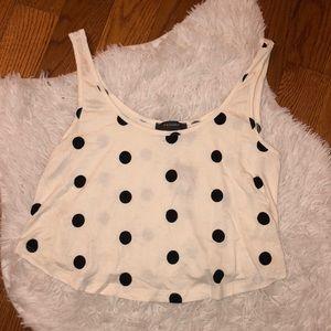 Polka dot crop top